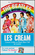 "Movie Posters:Rock and Roll, Magical Mystery Tour/Cream Combo (R-1980s). French Half Grande(31.75"" X 47""). Rock and Roll.. ..."