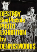 "Movie Posters:Rock and Roll, Destroy: Sex Pistols Photo Exhibition by Dennis Morris (LaforetMuseum, 2004). Japanese B2 (20.25"" X 28.5""). Rock and Roll...."