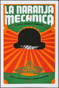 "A Clockwork Orange (ICAIC, 2009). Cuban Screen Print Poster (20"" X 30""). Science Fiction"