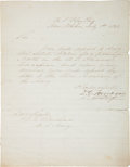 Autographs:Military Figures, David G. Farragut Letter Signed....