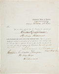 Autographs:Military Figures, Samuel Cooper Notice of Appointment Signed....