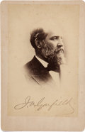 Photography:Cabinet Photos, James Garfield Cabinet Card with Stamped Signature....