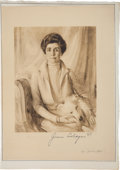 Autographs:U.S. Presidents, Grace Coolidge Signed Print...