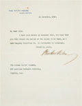 Autographs:U.S. Presidents, Woodrow Wilson Typed Letter Signed as President with Two RelatedLetters.... (Total: 3 Items)