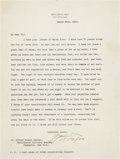 Autographs:U.S. Presidents, William H. Taft Typed Letter Signed....