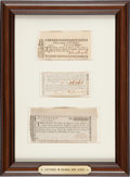 Miscellaneous, Three Lottery Tickets from Colonial New Jersey....