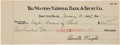 Autographs:Inventors, Orville Wright Signed Check. ...