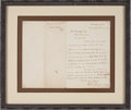 Autographs:Military Figures, William T. Sherman Letter Signed....