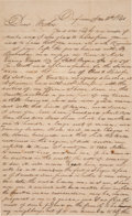 Autographs, Calvin L. Noble Letter with Content About the Fur Trade and the 1840 Presidential Election. ...