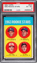 Baseball Cards:Singles (1960-1969), 1963 Topps Pete Rose - 1963 Rookie Stars #537 PSA EX-MT 6....