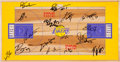 Basketball Collectibles:Others, 2006-07 Los Angeles Lakers Team Signed Floor Display....