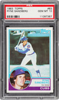 Baseball Cards:Singles (1970-Now), 1983 Topps Ryne Sandberg #83 PSA Gem Mint 10....