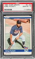 Baseball Cards:Singles (1970-Now), 1984 Fleer Update Kirby Puckett #U-93 PSA Gem Mint 10....