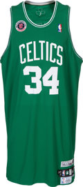 Basketball Collectibles:Uniforms, 2007 Paul Pierce Game Worn Europe Live Tour Boston CelticsJersey....