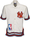Basketball Collectibles:Others, 1984-85 Butch Carter Game Worn New York Knicks Shooting Jacket from The Gary Carter Collection. ...