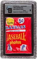 Baseball Cards:Unopened Packs/Display Boxes, 1960 Leaf Baseball 2nd Series 5-cent Wax Pack GAI Mint 9. ...