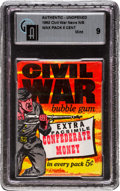 "Non-Sport Cards:Unopened Packs/Display Boxes, 1962 Topps ""Civil War News"" Wax Pack GAI Mint 9..."