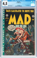 Golden Age (1938-1955):Humor, MAD #5 (EC, 1953) CGC VG+ 4.5 White pages....