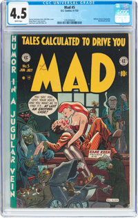 MAD #5 (EC, 1953) CGC VG+ 4.5 White pages