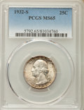 Washington Quarters, 1932-S 25C MS65 PCGS....