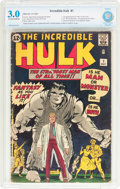 Silver Age (1956-1969):Superhero, The Incredible Hulk #1 (Marvel, 1962) CBCS GD/VG 3.0 Off-white to white pages....