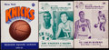 Basketball Collectibles:Programs, 1962-65 New York Knicks Programs Lot of 3....