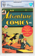 Golden Age (1938-1955):Superhero, Adventure Comics #53 (DC, 1940) CBCS Restored VG/FN 5.0 Moderate (P) Off-white to white pages....