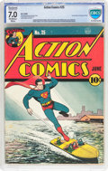 Golden Age (1938-1955):Superhero, Action Comics #25 (DC, 1940) CBCS Restored FN/VF 7.0 Slight to Moderate (A) Off-white to white pages....