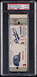 Baseball Collectibles:Tickets, 1955 World Series Game 3 Full Proof Ticket, PSA Authentic....