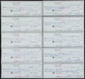 Golf Collectibles:Autographs, Sam Snead Signed Checks Lot of 10....