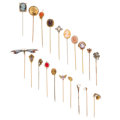 Estate Jewelry:Stick Pins and Hat Pins, Diamond, Multi-Stone, Freshwater Pearl, Seed Pearl, Glass, Enamel,Gold, Base Metal Stickpins. ... (Total: 20 Items)