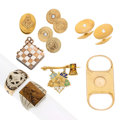 Estate Jewelry:Lots, Art Deco Gentleman's Diamond, Tiger's Eye Quartz, Enamel, Gold Lot.... (Total: 10 Items)