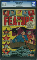 Golden Age (1938-1955):Humor, Feature Comics #73 (Quality, 1943) CGC VF+ 8.5 CREAM TO OFF-WHITE pages.