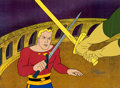 Animation Art:Production Cel, New Adventures of Flash Gordon Production Cel Setup andAnimation Drawings Group (Filmation, 1979).... (Total: 12 Items)