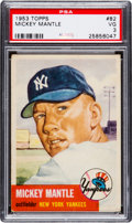 Baseball Cards:Singles (1950-1959), 1953 Topps Mickey Mantle #82 PSA VG 3....