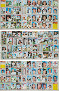 Baseball Cards:Sets, 1970 Topps Baseball Trio of Partial Uncut Sheets (3). ...