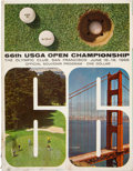 Golf Collectibles:Autographs, 1966 US Open (Golf) Multi-Signed Program....