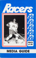 Hockey Collectibles:Publications, 1978-79 Indianapolis Racers Media Guide - From Wayne Gretzky's 1stYear as Pro. ...