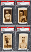 "Boxing Cards:General, 1922 Boys Magazine ""Boxers"" PSA Graded Complete Set (8). ..."