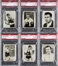"Boxing Cards:General, 1933 Trumpf Chocolate ""Boxers"" PSA Graded Complete Set (6). ..."