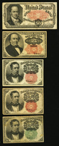 Fractional Currency:Fifth Issue, Fifth Issue Fractionals Very Good-Fine or Better.. ... (Total: 5notes)
