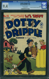 Dotty Dripple #15 - File Copy (Harvey, 1950) CGC NM 9.4 OFF-WHITE pages