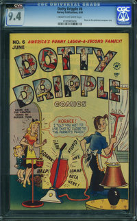Dotty Dripple #6 (Harvey, 1949) CGC NM 9.4 CREAM TO OFF-WHITE pages