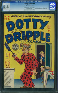 Dotty Dripple #4 (Harvey, 1949) CGC NM 9.4 CREAM TO OFF-WHITE pages