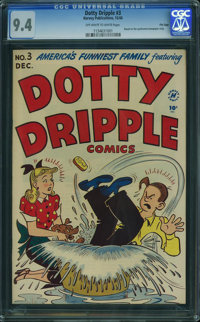 Dotty Dripple #3 - File Copy (Harvey, 1948) CGC NM 9.4 Off-white to white pages