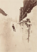 Photographs:Historical Photographs, Unknown (19th century). Blizzard ou Tempete de Neige, New York, 1888. Albumen. 8-1/4 x 6 inches (21.0 x 15.2 cm). Titled...