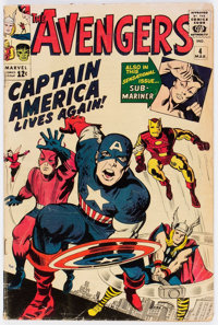 The Avengers #4 (Marvel, 1964) Condition: GD+