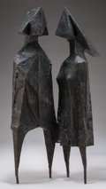 Sculpture, Lynn Chadwick (1914-2003). Conjunction XVII, 1971. Bronze. 29-3/4 inches (75.4 cm) high. Ed. 6/6. Stamped 'Chadwick 71 6...
