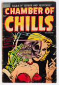 Golden Age (1938-1955):Horror, Chamber of Chills #19 (Harvey, 1953) Condition: GD+....