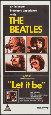 """Let It Be (United Artists, 1970). Australian Post-War Daybill (13.25"""" X 30""""). Rock and Roll"""